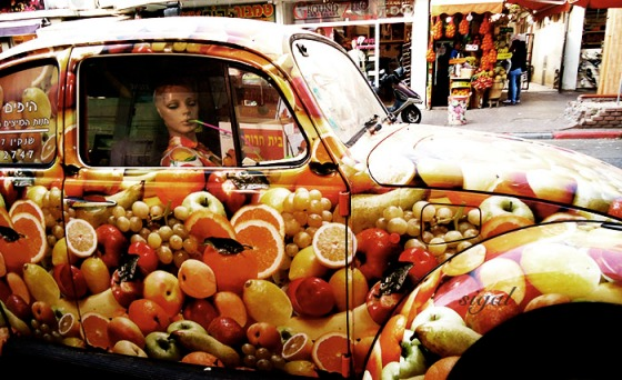 fruits and vegetable inspired car
