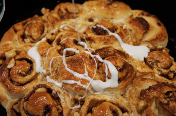 baked crunchy cinnamon rolls