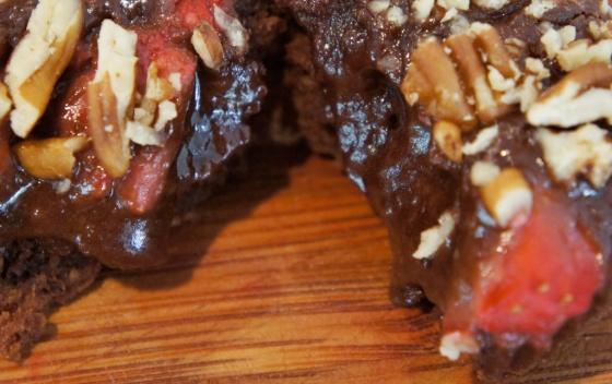 tasty chocolate melting crunchy berry cupcake