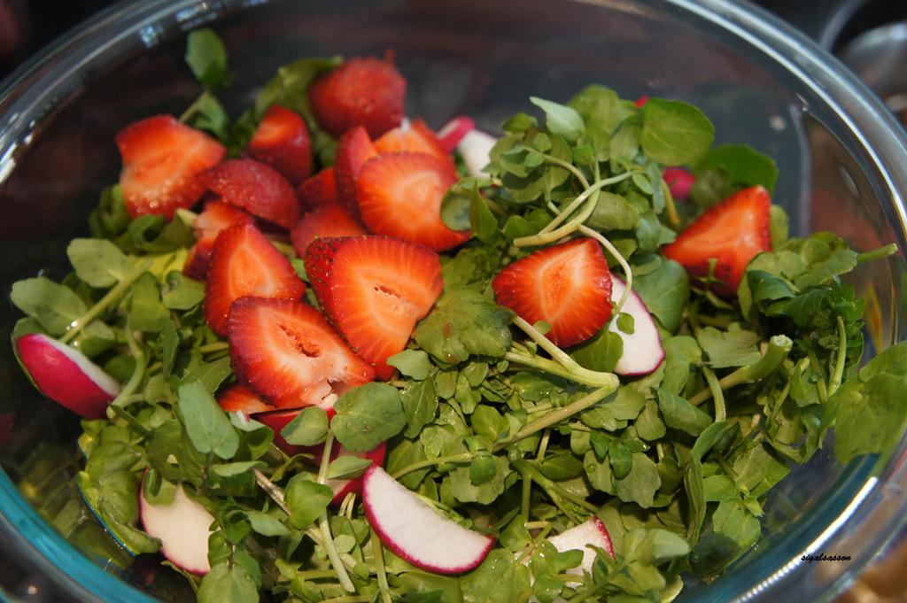 watercress summer salad
