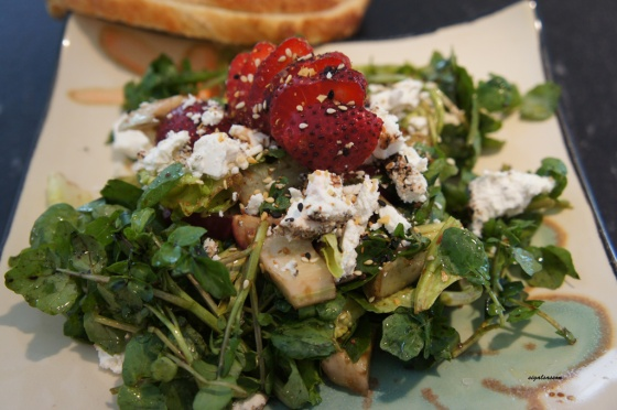 watercress goatcheese summer salad