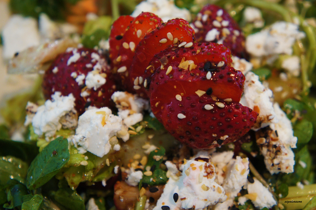 watercress goat cheese summer salad