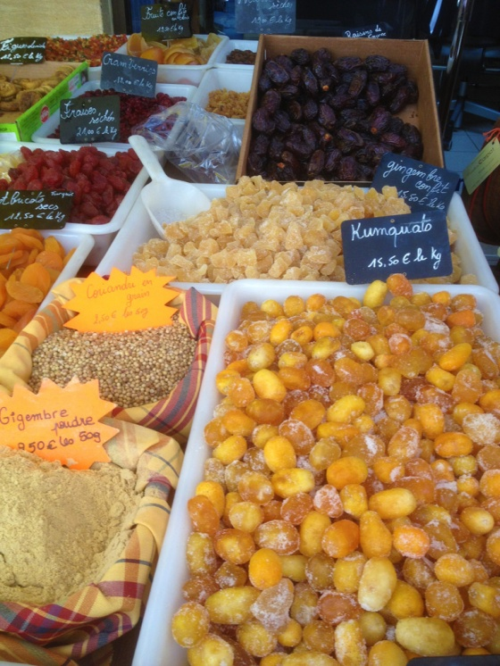 food market in provence, france