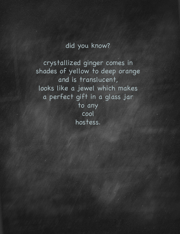 """""""fact about candy ginger"""""""