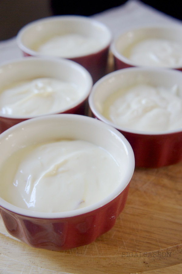 silky yogurt mousse with saffron and honey