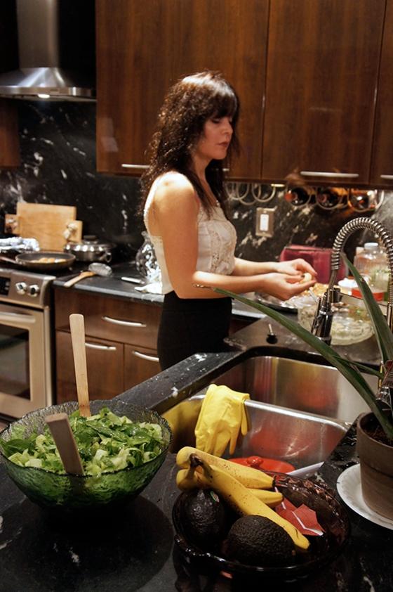 dark glossy kitchen cabinet - kitchen renovation