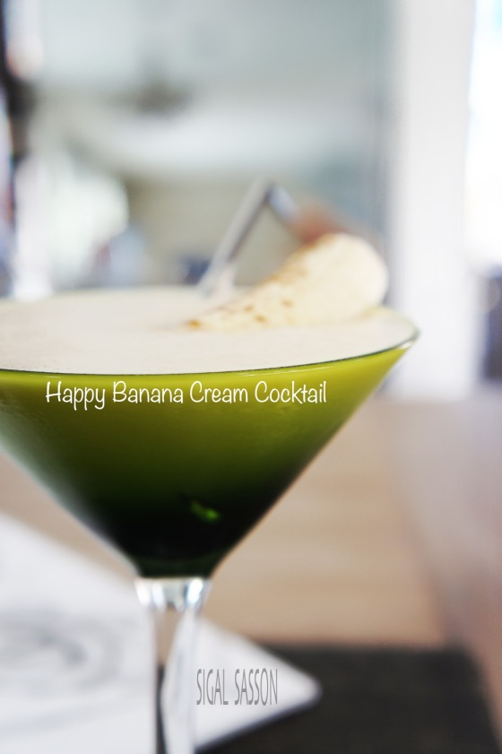 happy delicious banana cream cocktail